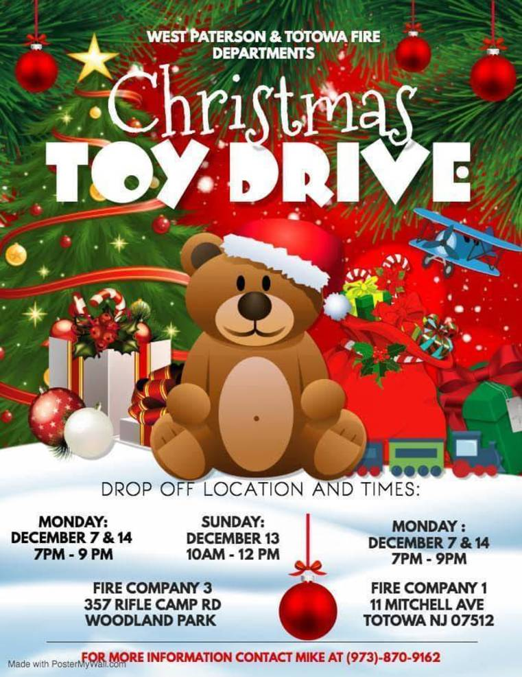 Totowa, Woodland Park Fire Departments Toy Drive Benefits Local Hospitals