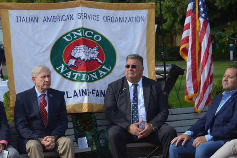 Scotch Plains Mayor Al Smith, Township Manager Al Mirabella and Deputy Mayor Josh Losardo