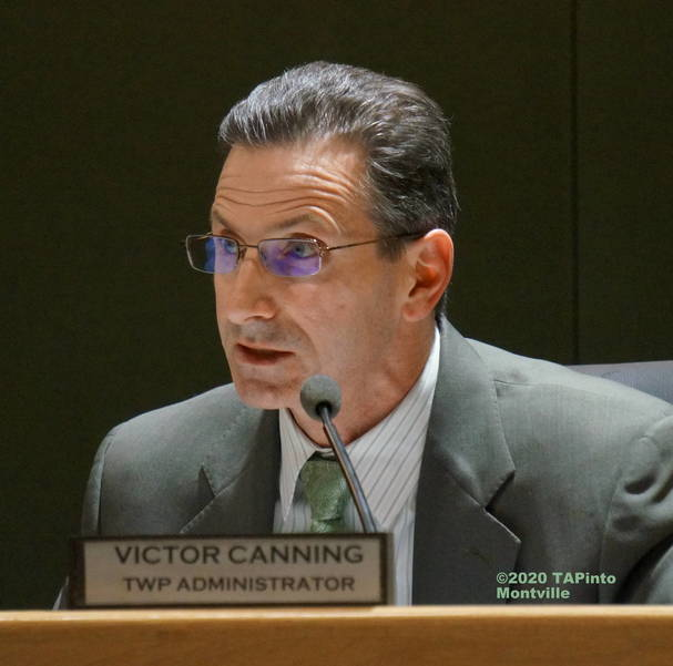 Township Administrator Victor Canning at a 2019 township committee meeting ©2020 TAPinto Montville.JPG
