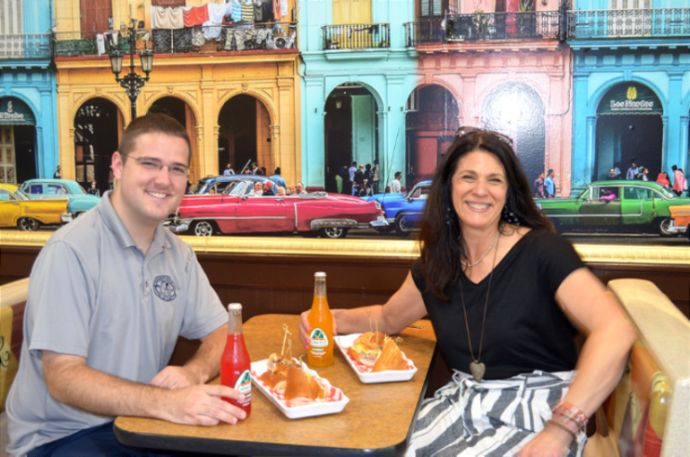 Scotch Plains Township officials Tom Strowe and Margaret Heisey at Havana Mia on Route 22 in Scotch Plains
