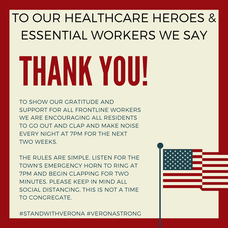 Carousel image 19fba553754e3fd57685 to our healthcare heroes   essential workers we say