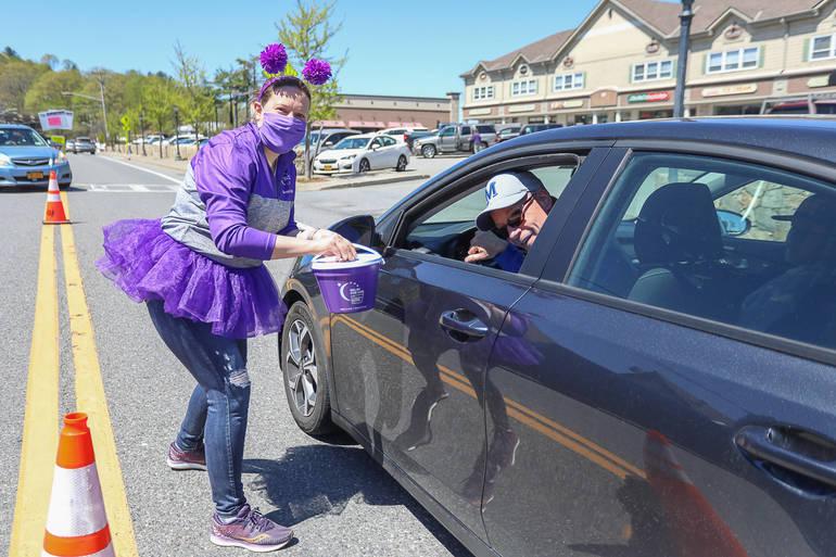 Mahopac Paints the Town Purple!
