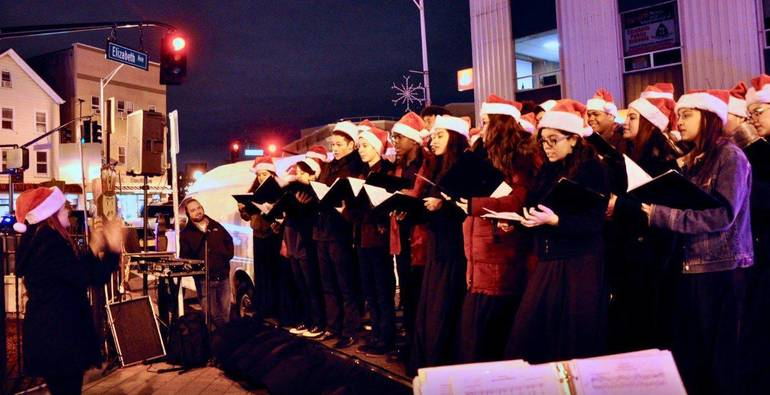 Tree Lighting 18 - JAA Choir with Conducter.JPG