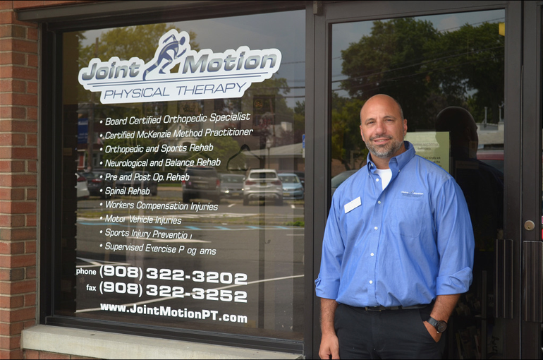 Triston Glynos at Join Motion Physical Therapy in downtown Scotch Plains