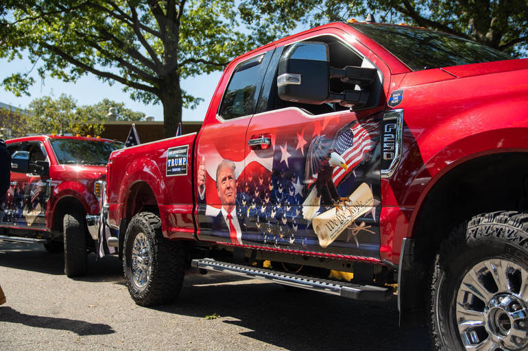 Trump Truck Parade Heads for Bedminster Saturday