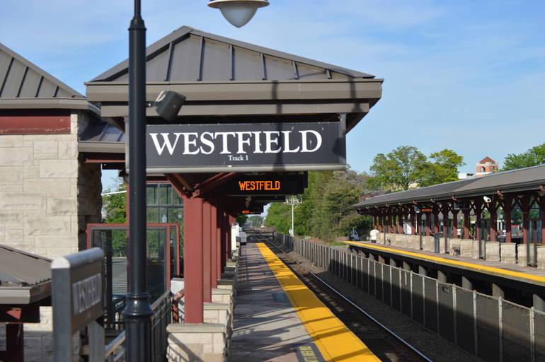 Westfield Train Station train tracks