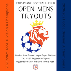 Tryouts this Week for Parsippany Football Club