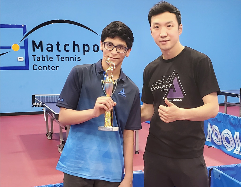 Livingston Eighth Grader Wins Second State Table Tennis Championship