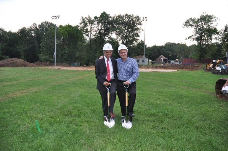 Turf Groundbreaking Mayor and Jon.jpg
