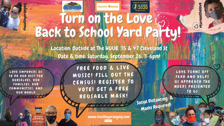 Turn on the Love Back to School Yard Party (English)