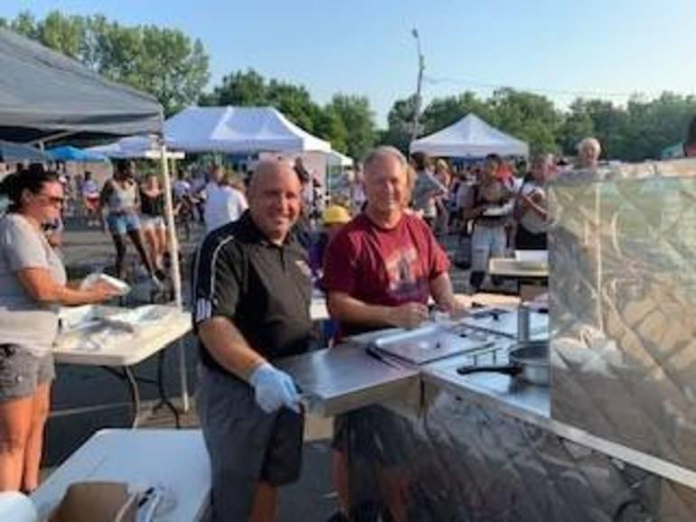 Twin City's Bill Ashnault and BOE member Tom Cassio.jpg
