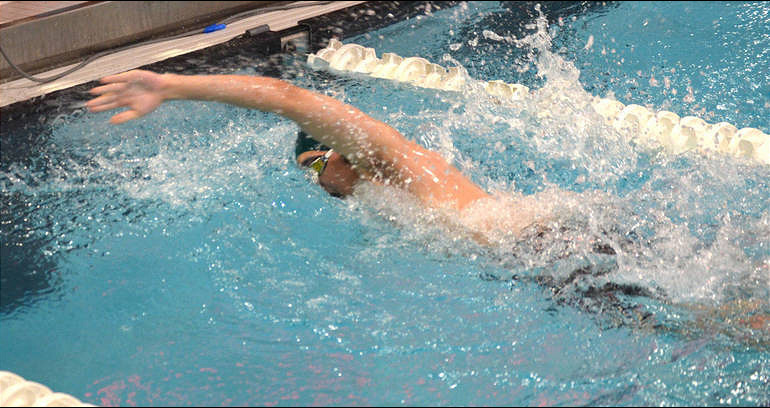 Tyler Knurek anchors the 400 Free Relay at GMC championships 2020.png