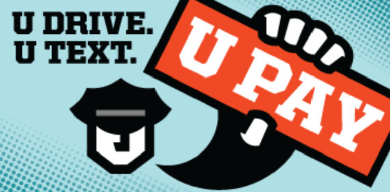 Glen Rock Police Remind Drivers of Distracted Driving Enforcement: UDrive.UText. UPay.