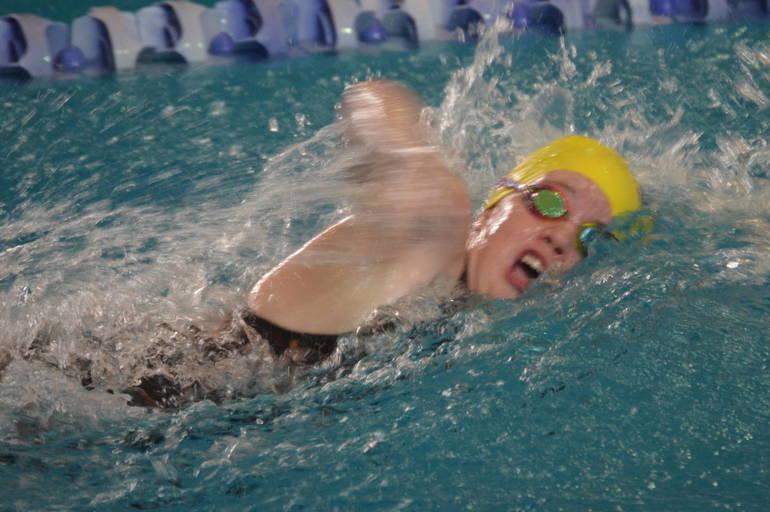 Union Catholic's Bridget Davis swam in the 500 Freestyle t the NJSIAA Meet of Champions.
