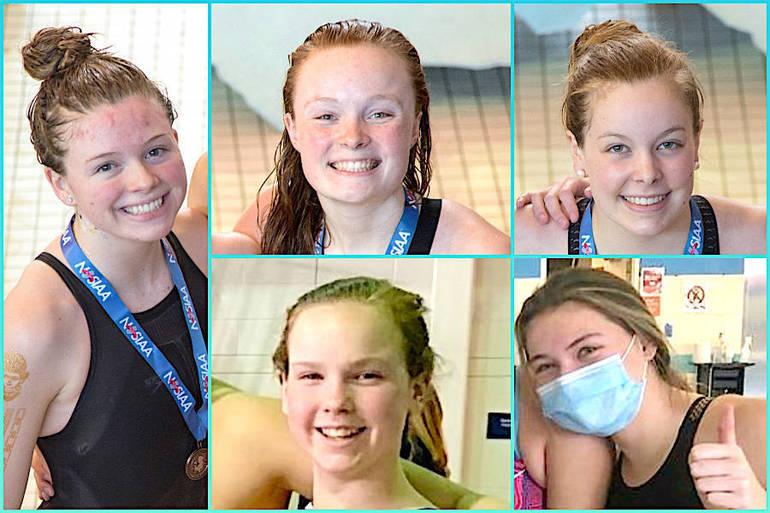 Summit H.S. Girls Swim Team's Season Wraps with Virtual Title, Individual Honors