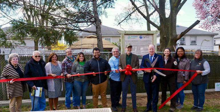 Groundwork Elizabeth, Cuts Ribbon for Conservation Center at Peterstown Senior Center