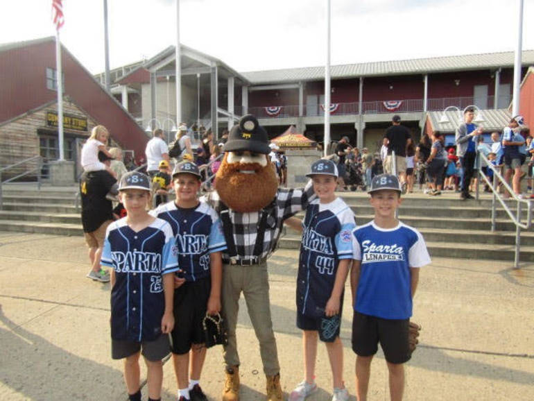 Sparta Little League Baseball Treated to a Night at Skylands Stadium