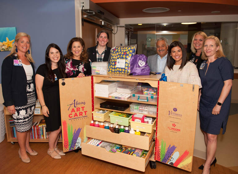 Alicia's Art Carts Donated to Virtua Patients and Students