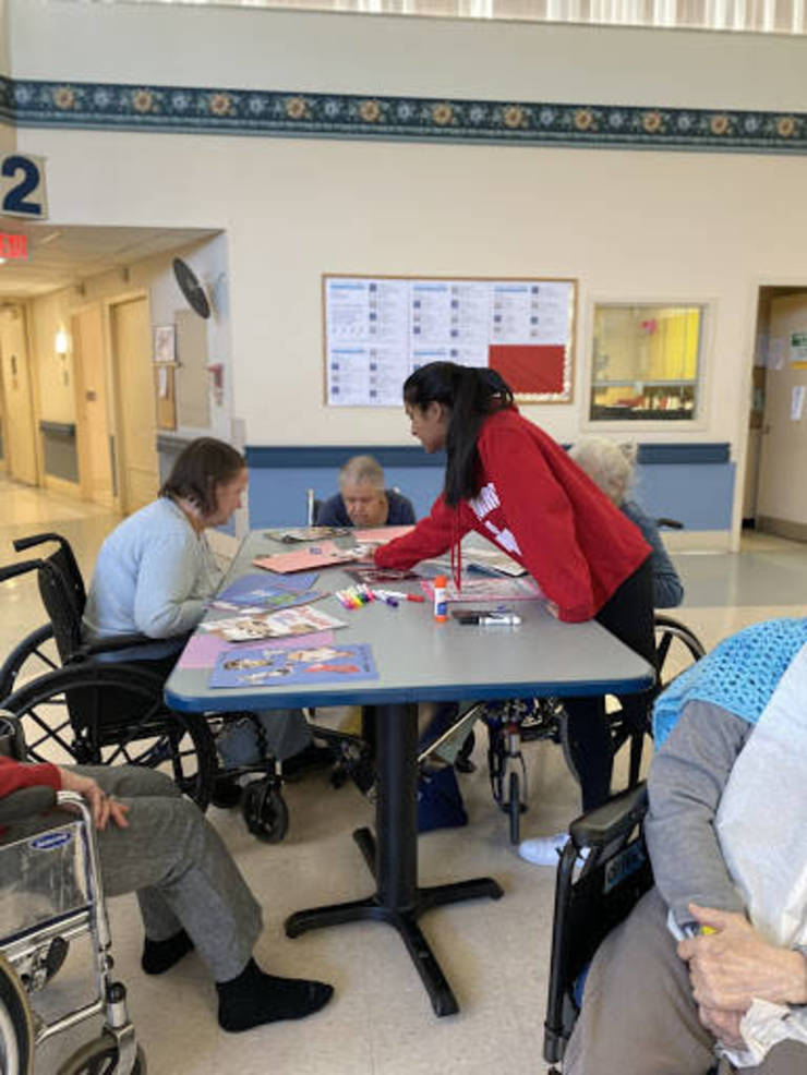 Students Visit Local Nursing Home and Help to Run Activities to Engage Senior Citizens