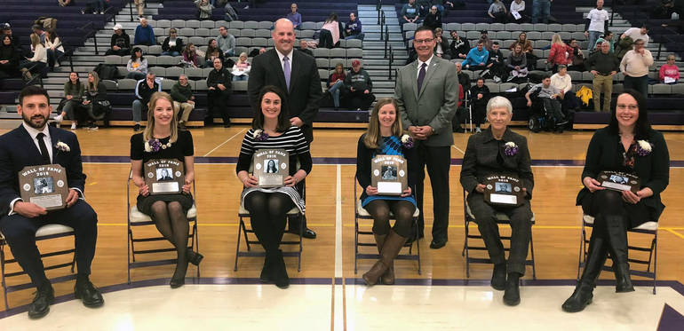 Erin (O'Connor) Lentini of Scotch Plains was inducted into the University of Scranton's Athletics Wall of Fame.
