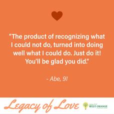 West Orange Senior Citizens Give 'Legacy of Love' Valentine to Community Youth