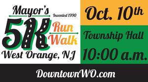 West Orange Mayor's 5K Run/Walk  Rescheduled for Sunday, October 10