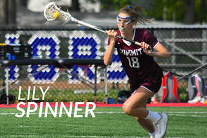 Spinner Scores Four as Summit H.S. Girls Lacrosse Defeats Sacred Heart Greenwich, 13-9