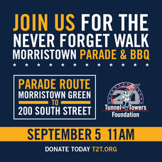 """The Tunnel to Towers """"Never Forget Walk"""" Parade Coming to Morristown"""
