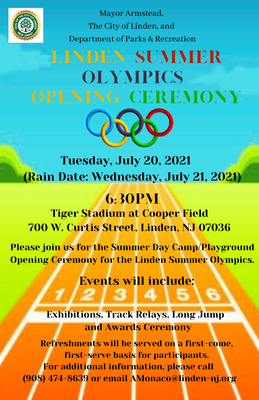 Linden Summer Olympics Kicks Off with its Opening Ceremony