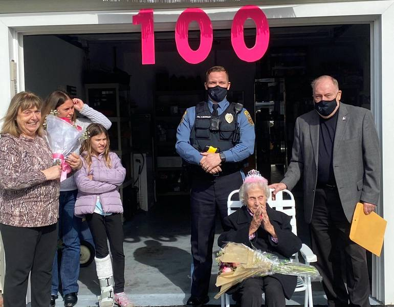 Barnegat Woman Turns 100: Honored with Car Parade and Mayoral Visit
