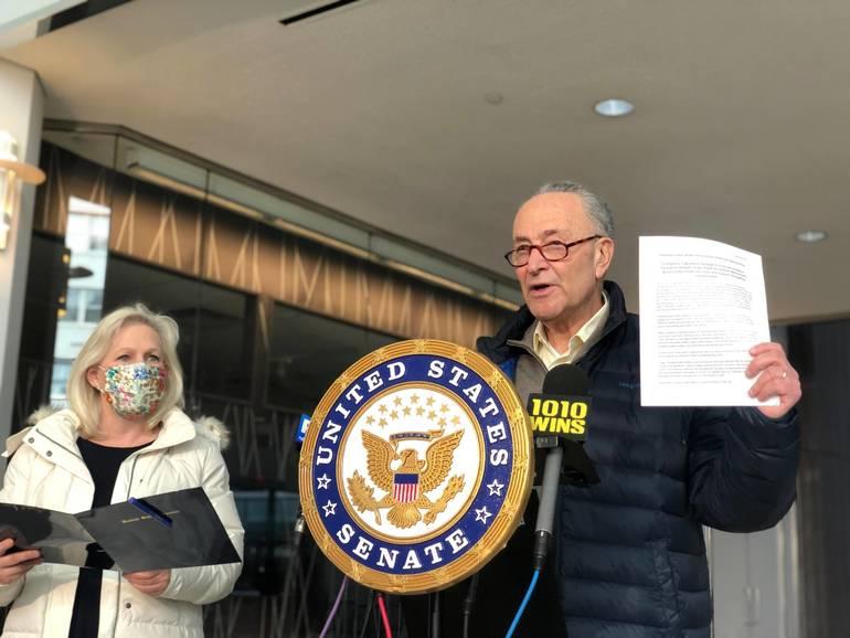 U.S. Senators Kirsten Gillibrand and Charles Schumer announce provisions of American Rescue Plan