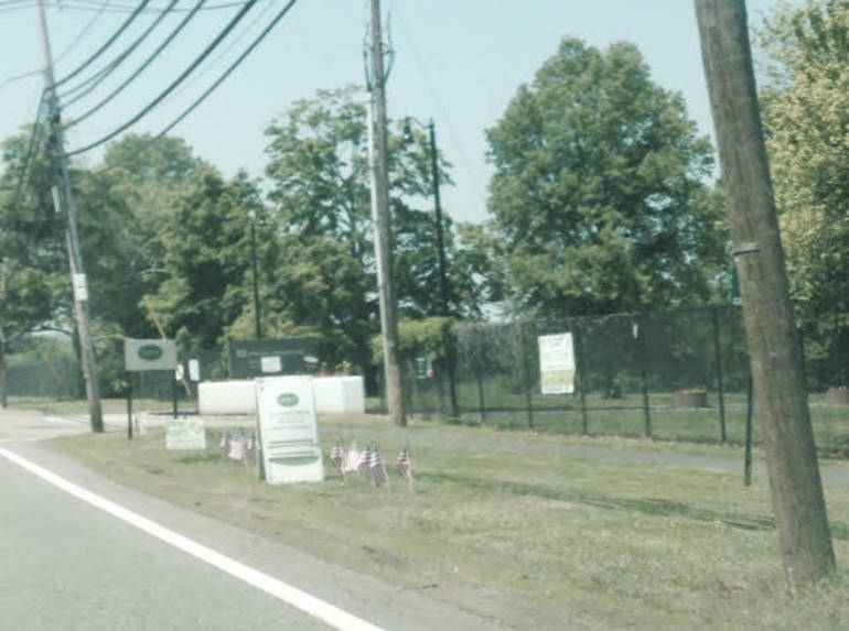Entrance to Veterans Administration facility off Valley Road