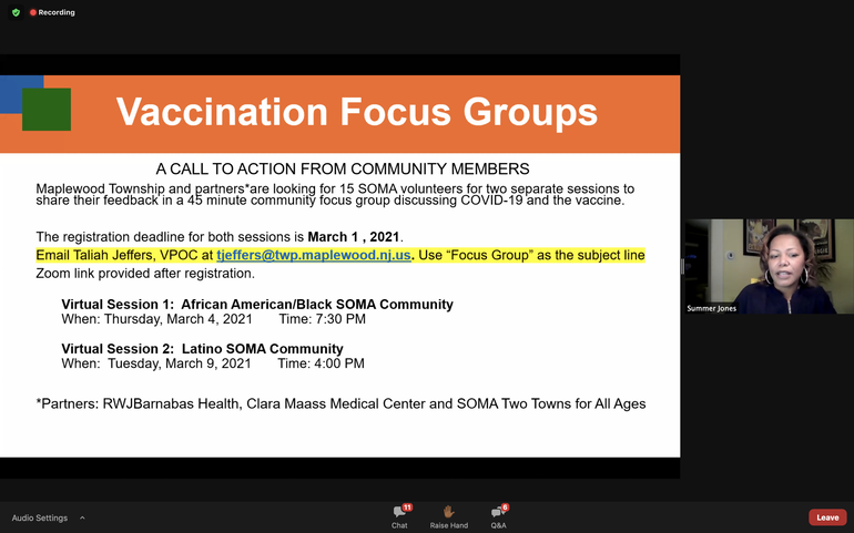 Combatting Misinformation and Valid Distrust: CCOR Hosts Discussion on Vaccination in the Black Community