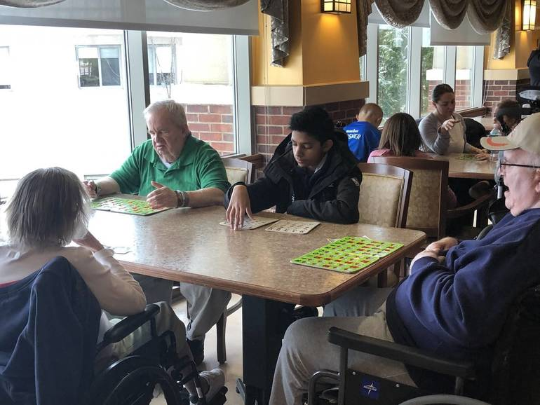 Students From Somerset County Vocational and Technical School Volunteer At Veterans Home To Engage With Veterans