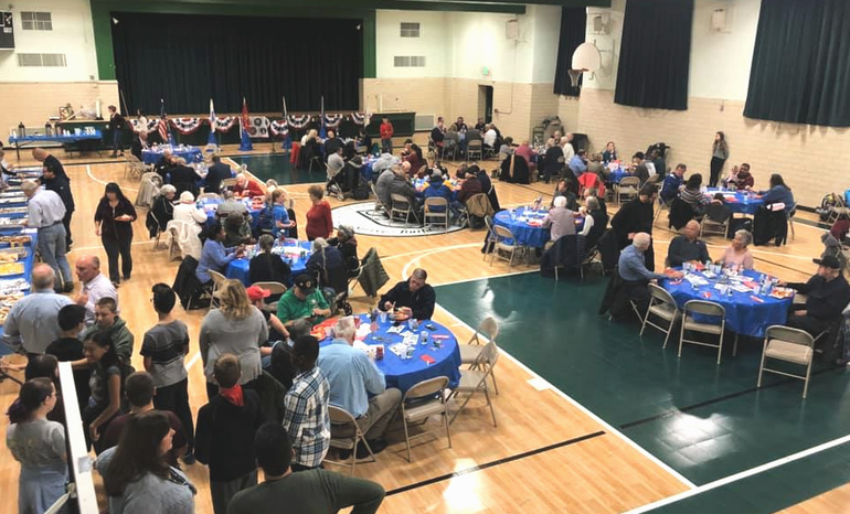 Scenes from the Veterans Luncheon at St. Bart's Academy in Scotch Plains