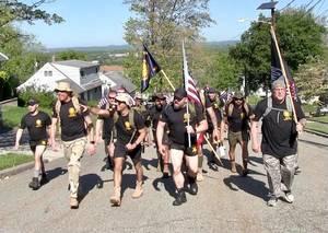 American Legion Veterans Ruck Through Two Towns Visiting Elderly Comrades