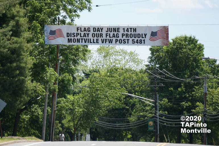 VFW banner about Flag Day ©2020 TAPinto Montville.JPG