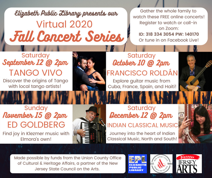 virtual concert series flyer