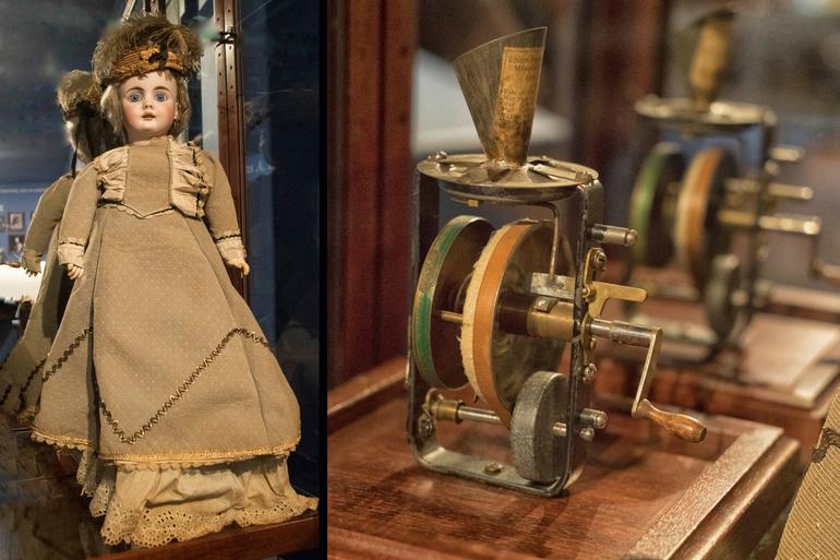 Sparta Historical Society, Thomas Edison Exhibit, Sparta NJ, Doll