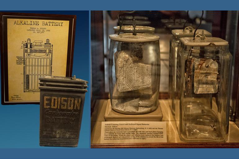 Sparta Historical Society, Thomas Edison Exhibit, Sparta NJ, Rechargeable Batteries