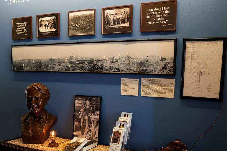 Sparta Historical Society, Thomas Edison Exhibit, Sparta NJ, Mining, Ogdensburg NJ