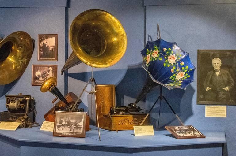 Sparta Historical Society, Thomas Edison Exhibit, Sparta NJ, Phonograph