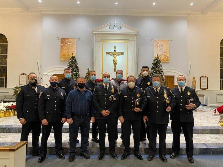 Livingston Police Officers and Families Blessed During Third Annual Blue Mass