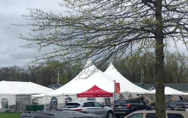 Tents at Far Hills Fairgrounds