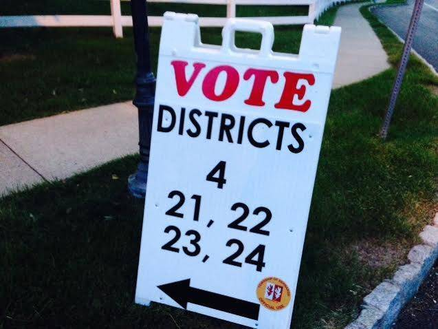 Voting district sign, Bernards Township