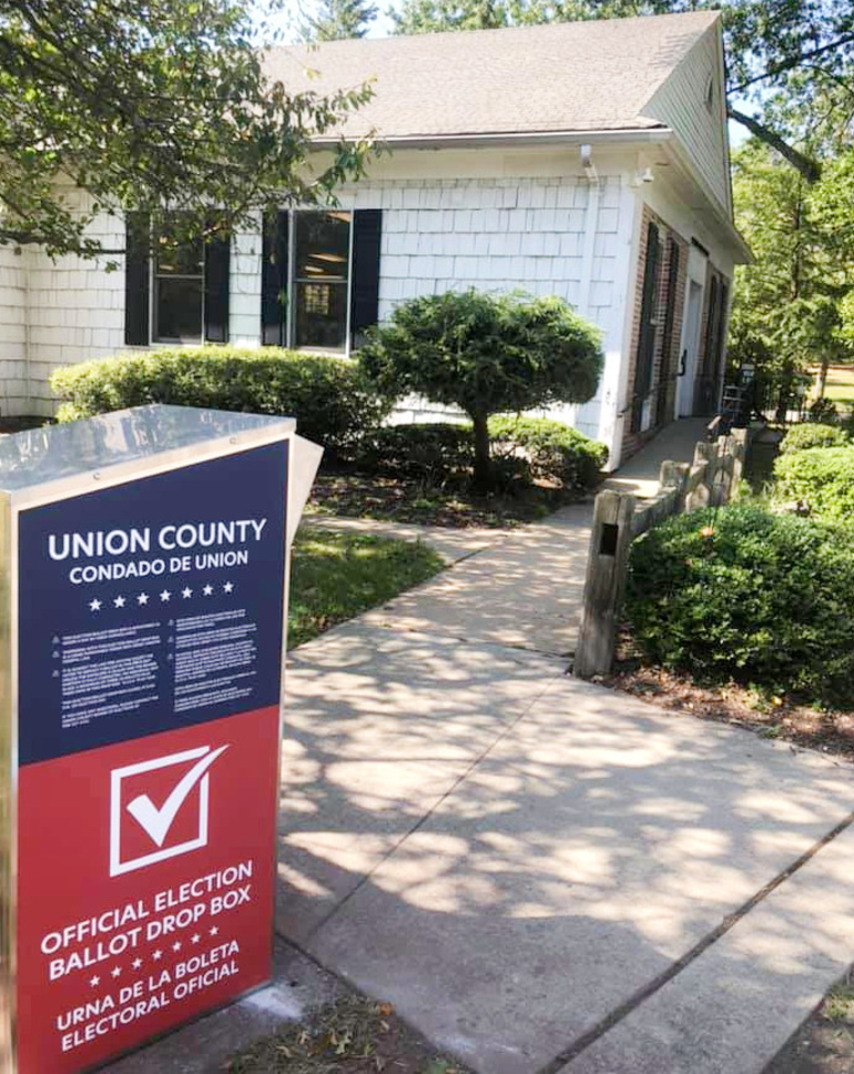 Drop box for 2020 ballots located at the Fanwood Memorial Library (5 Forest Road) in Fanwood.