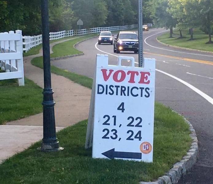 Vote sign in Bernards Township