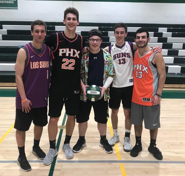 Volleyball marathon winners Phoenix Suns Malik Amer crop.JPG