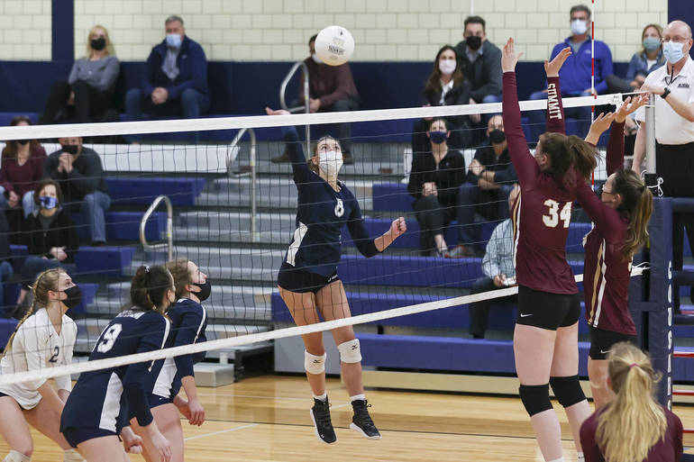 Jaroker Highlights Chatham's 3-Set Volleyball Win in State Sectional Semifinals with 1,000th Career Assist; Burke 18 Kills