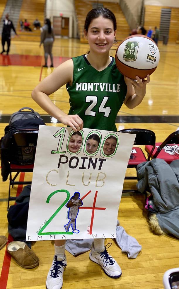 Montville's Emma Wax scores 1,000th point